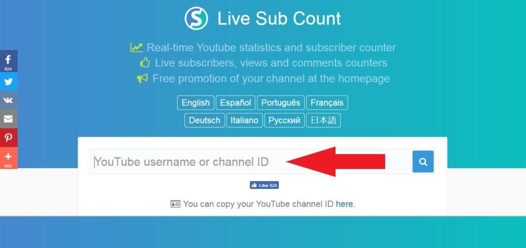 Livesubcount подписчики в реальном времени