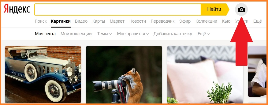 Поиск в Яндекс.Картинки
