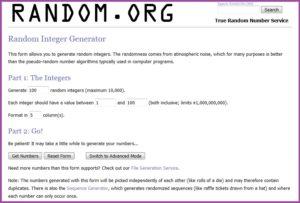 Random Integer Generator