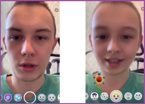 Маска ребёнка в Snapchat