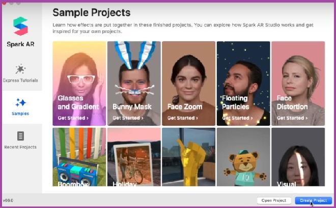 Создать проект в Spark AR